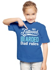 Tattooed and bearded Dad rules Youth T-Shirt lifestyle-youth-tshirt-front-2