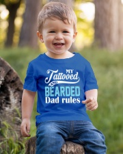 Tattooed and bearded Dad rules Youth T-Shirt lifestyle-youth-tshirt-front-4