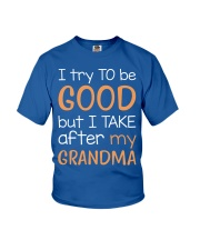 I try to be GOOD - Grandma Youth T-Shirt front