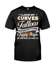 Love my curves tattoos Classic T-Shirt front