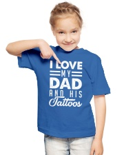 Love my dad and his tattoos Youth T-Shirt lifestyle-youth-tshirt-front-2