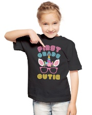 First grade Cutie - Unicorn Youth T-Shirt lifestyle-youth-tshirt-front-2