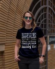 Stubborn As - January Girl Ladies T-Shirt lifestyle-women-crewneck-front-2