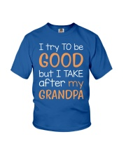I try to be good - Grandpa Youth T-Shirt front