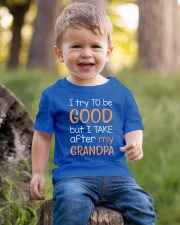 I try to be good - Grandpa Youth T-Shirt lifestyle-youth-tshirt-front-4