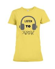 Listen To Metal T-Shirt Premium Fit Ladies Tee thumbnail