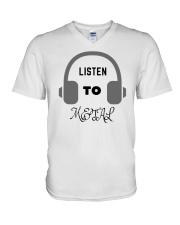Listen To Metal T-Shirt V-Neck T-Shirt thumbnail