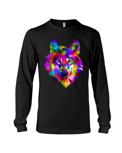 Colorful Wolf Shirt