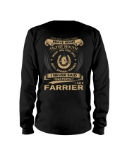 Farrier T-Shirt Limited Edition Long Sleeve Tee back