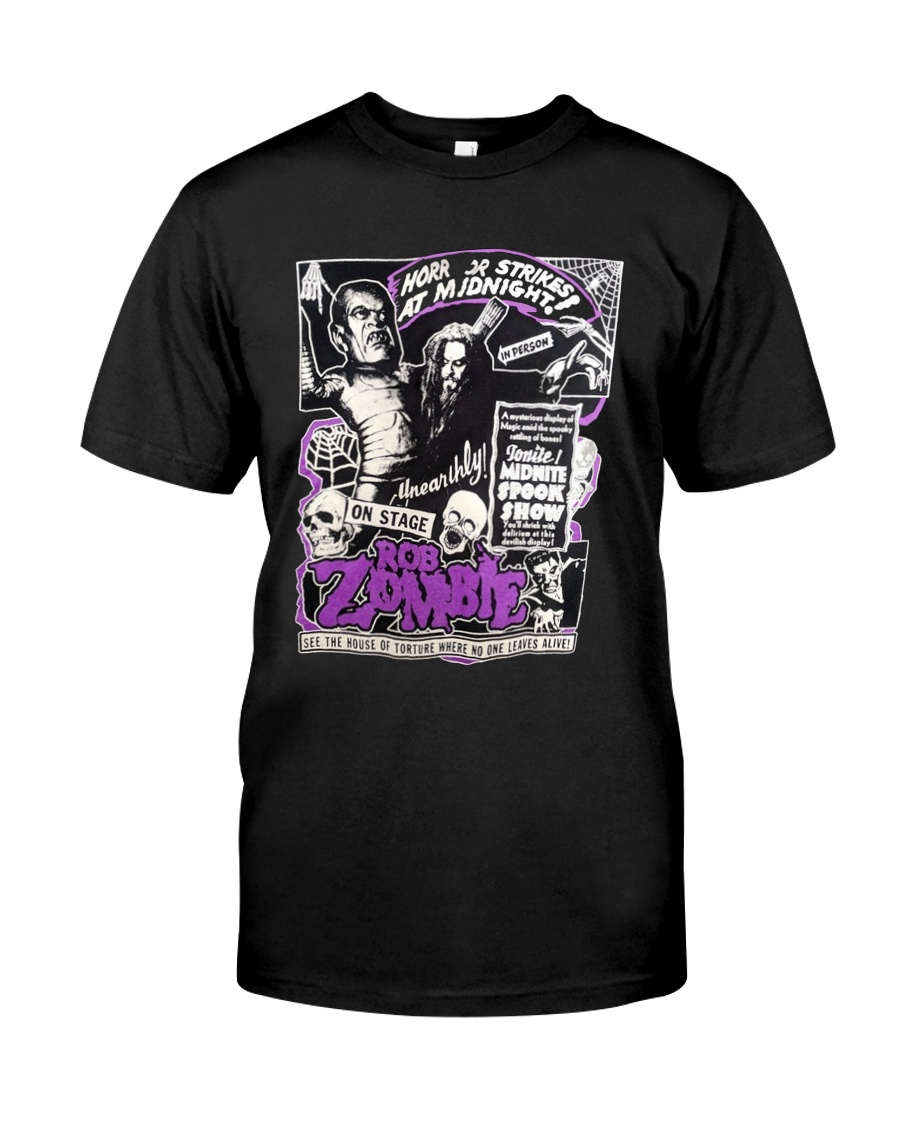 horror strikes at midnight rob zombie Classic T-Shirt