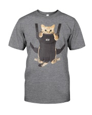 cat in a baby carrier Classic T-Shirt front