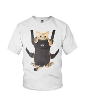 cat in a baby carrier Youth T-Shirt thumbnail
