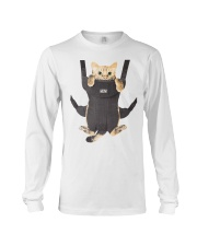 cat in a baby carrier Long Sleeve Tee thumbnail