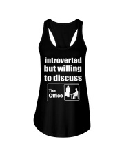 introverted but willing to discuss Ladies Flowy Tank thumbnail