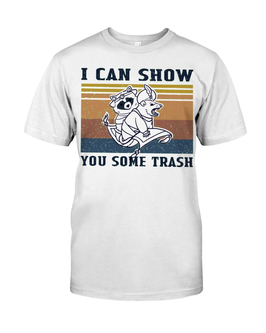 Show You Some Trash Raccoon Retro Navy Classic T-Shirt