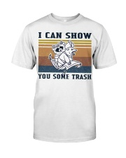 Show You Some Trash Raccoon Retro Navy Classic T-Shirt front