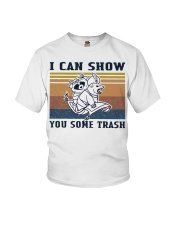 Show You Some Trash Raccoon Retro Navy Youth T-Shirt thumbnail