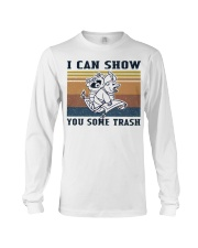Show You Some Trash Raccoon Retro Navy Long Sleeve Tee thumbnail
