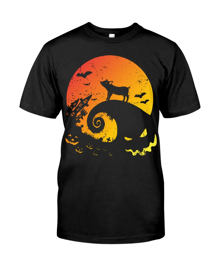 Scary Halloween Pig Classic T-Shirt