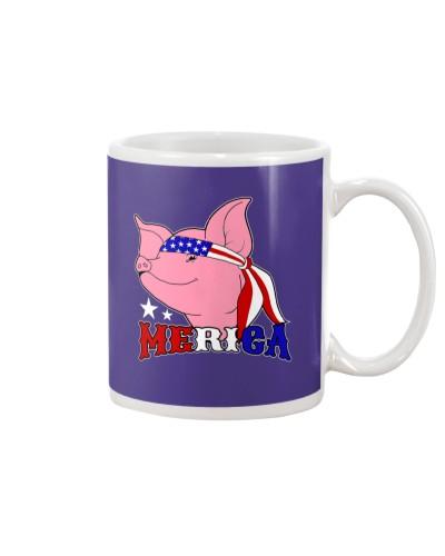 Merica 4th July Pig