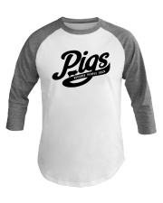 Pigs Because People Suck Baseball Tee front