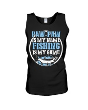 Paw Paw Is My Name Fishing Is My Game Shirt Unisex Tank thumbnail