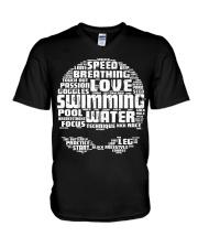 Swimming Shirt V-Neck T-Shirt thumbnail