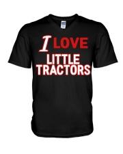 I Love Little Tractors Shirt V-Neck T-Shirt thumbnail