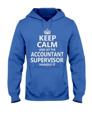 Accountant Supervisor Keep Calm Hooded Sweatshirt front