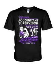 Accountant Supervisor Look Better V-Neck T-Shirt thumbnail