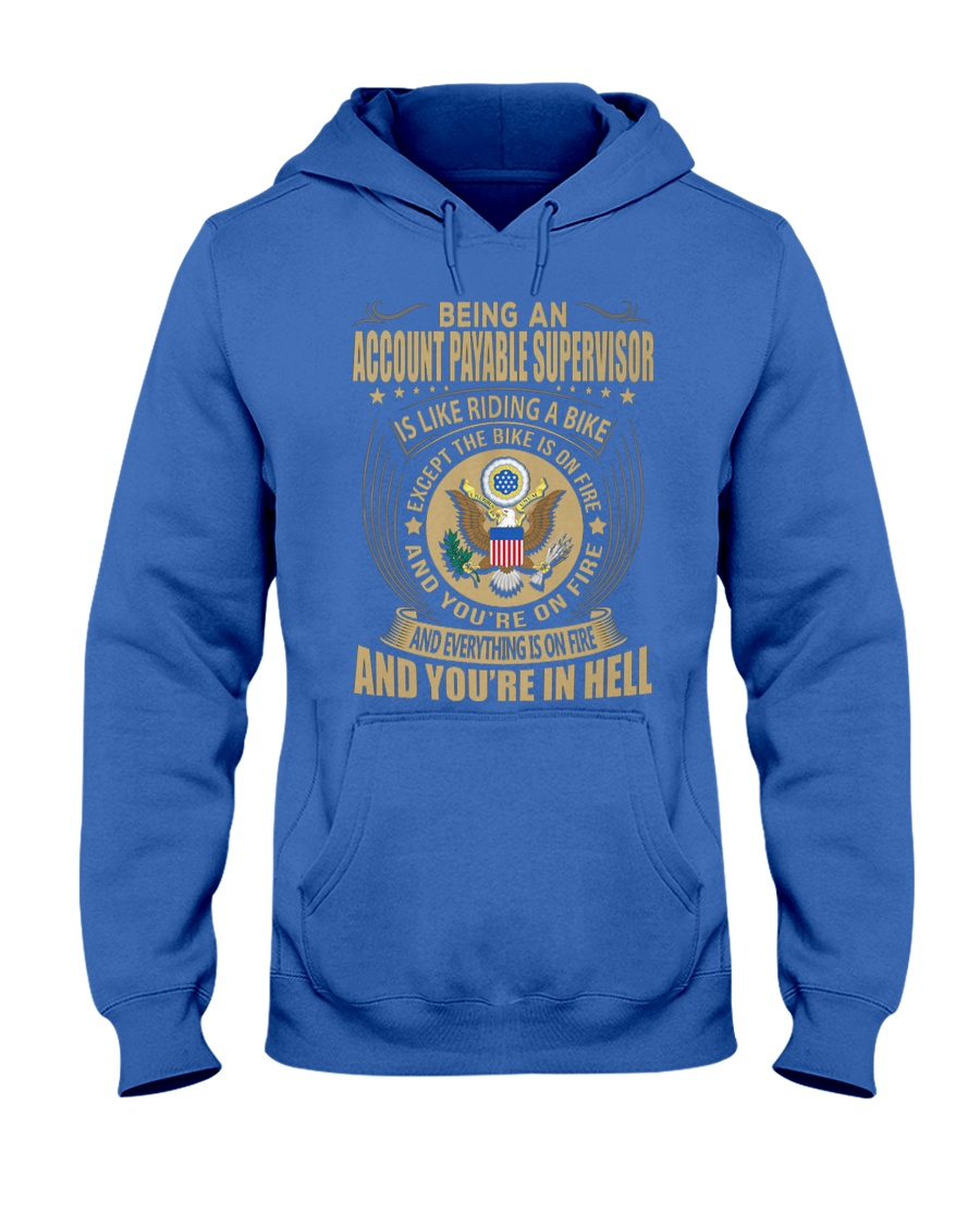 Account Payable Supervisor Riding Bike Hooded Sweatshirt