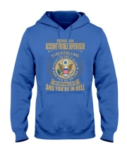 Account Payable Supervisor Riding Bike Hooded Sweatshirt front