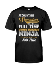 Accountant Supervisor Ninja Classic T-Shirt thumbnail