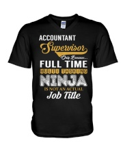Accountant Supervisor Ninja V-Neck T-Shirt thumbnail