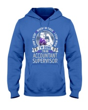 Accountant Supervisor Never Stop Hooded Sweatshirt front
