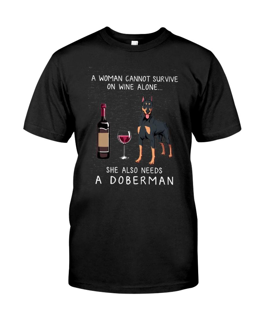 WINE AND DOBERMAN Classic T-Shirt