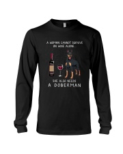 WINE AND DOBERMAN Long Sleeve Tee thumbnail