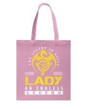 LADY - Endless Legend Name Shirts Tote Bag thumbnail