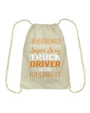 Truck Driver - Super Sexy Job Drawstring Bag thumbnail