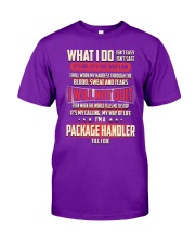 Package Handler - What I do Job Title Classic T-Shirt tile