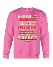 Package Handler - What I do Job Title Crewneck Sweatshirt tile