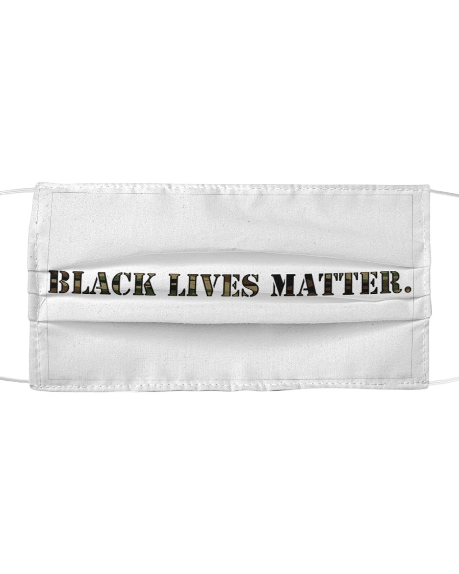 Black Lives Matter Camouflage Set Cloth face mask