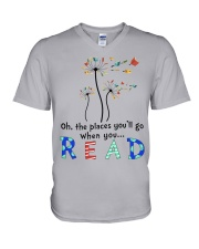 Oh the places you'll go when you read V-Neck T-Shirt thumbnail