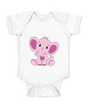 Baby Elephant Pink Baby Bodysuit Baby Onesie front