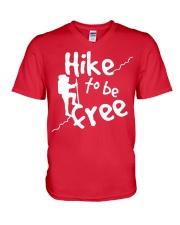 Hike to be fre V-Neck T-Shirt thumbnail
