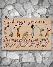 God Says You Are Volleyball 17x11 Poster poster-landscape-17x11-lifestyle-13