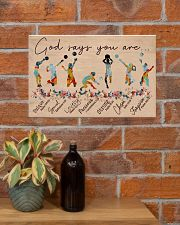 God Says You Are Volleyball 17x11 Poster poster-landscape-17x11-lifestyle-23