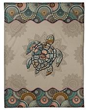 """Turtle Mandala Small Fleece Blanket - 30"""" x 40"""" front"""