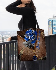 Blue Rose Back The Blue All-over Tote aos-all-over-tote-lifestyle-front-05
