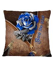 Blue Rose Back The Blue Square Pillowcase tile